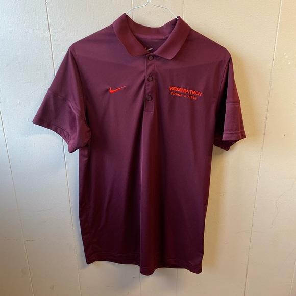 Nike Other - Nike Virginia Tech T&F Golf Shirt